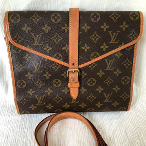 Louis Vuitton Monogram Sac Portable Serviette